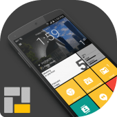 Square Home 3 – Launcher : Windows style